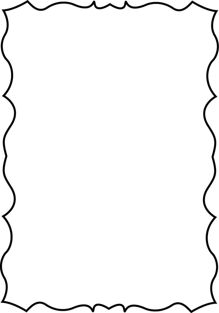 736x1048 Single Line Border Clipart Cliparts