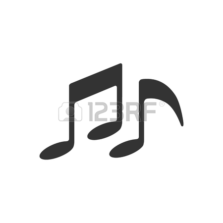 450x450 Music Notes Icon In Single Color. Musical Sheets Sign Crotchets