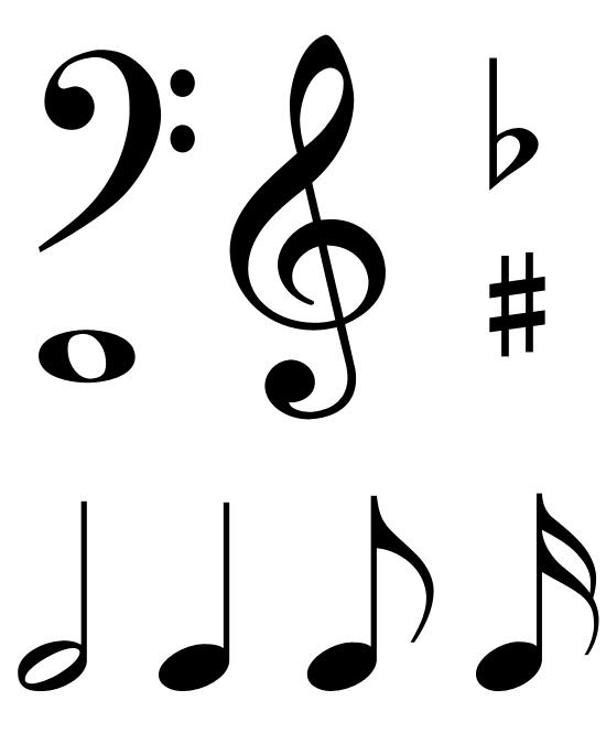 550x665 Single Music Notes Symbols Clipart Panda