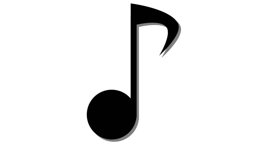 852x480 Single Musical Note In And Out Animation Red Stock Footage Video