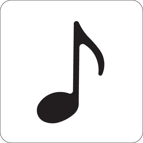 550x550 Music Note Stencils Clipart