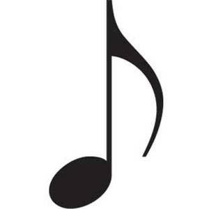 300x300 Single Musical Note Music