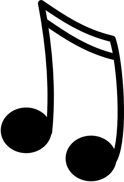 414x606 Single Music Note Clip Art Sixteenth Notes Joined In A Pair