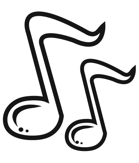 450x525 Single Music Notes Clip Art Free Clipart Images 2