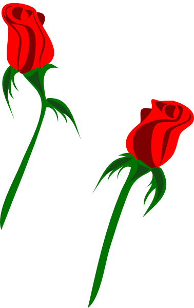 378x600 Red Rose Buds Clip Art