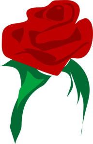 192x296 Single Red Rose Clip Art