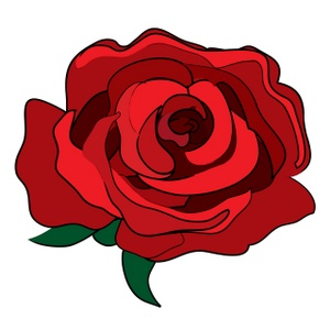 300x300 Single Red Rose Clip Art Clipart Image