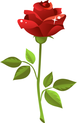 252x400 Top 82 Red Rose Clipart