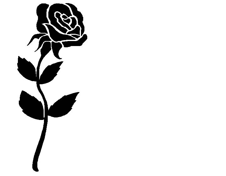 720x562 Rose Black And White Rose Clip Art Free Clipart