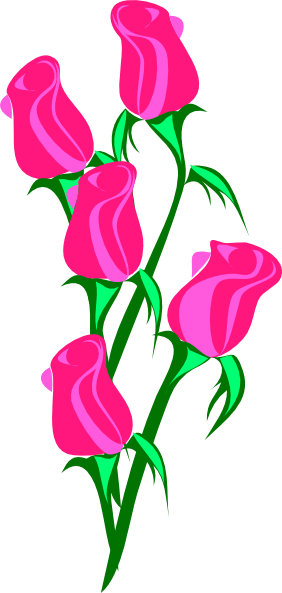 282x593 Single Clipart Pink Rose