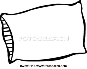 350x276 Black amp White clipart pillow