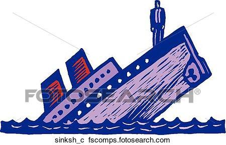 450x289 Clipart of Sinking Ship sinksh c