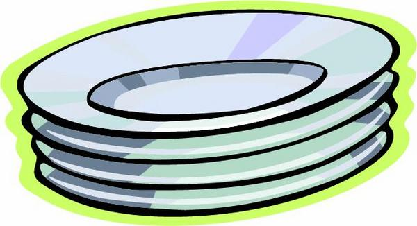 600x326 Cups And Plates Clipart
