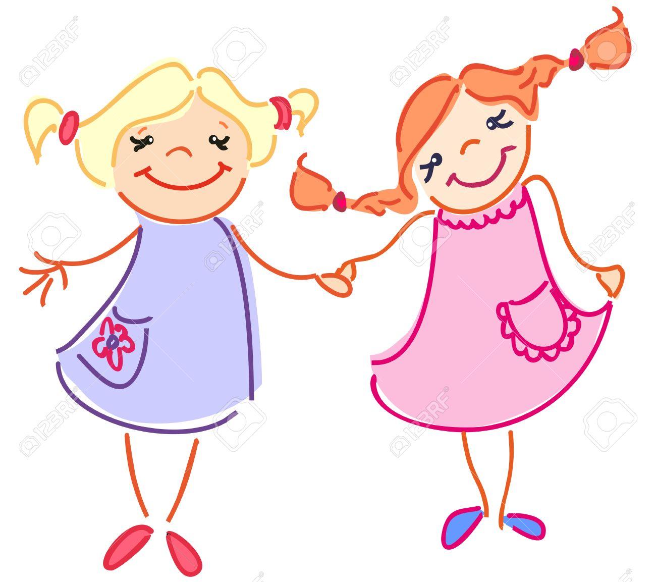 1300x1153 Little Girl Clipart Little Sister