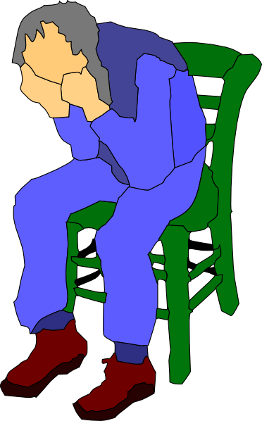 372x598 Man Sitting On A Chair Clip Art