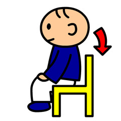 240x240 Stand Up Sit Down Clipart