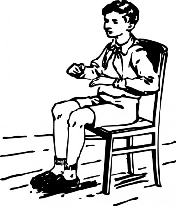 363x425 Boy Sitting In Chair Clip Art Clipart Panda