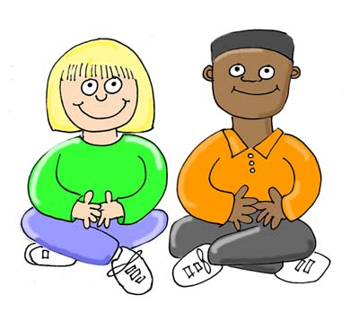 400x357 Sit Quietly Clipart