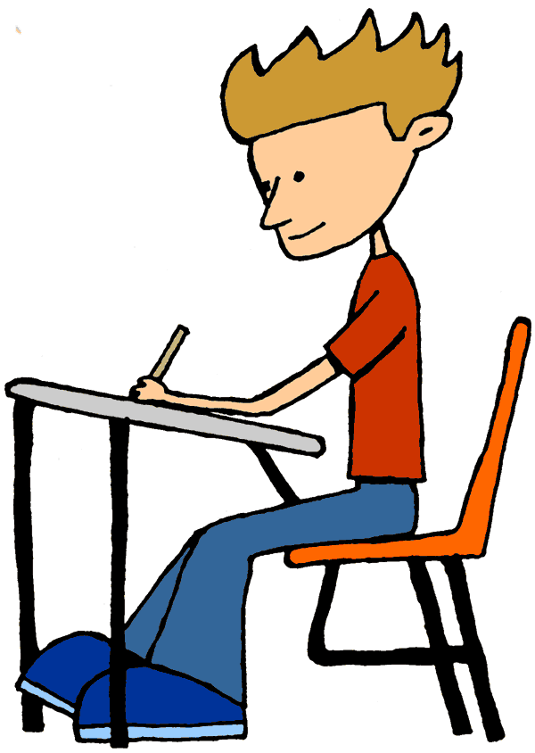 600x844 Student Sitting Clipart