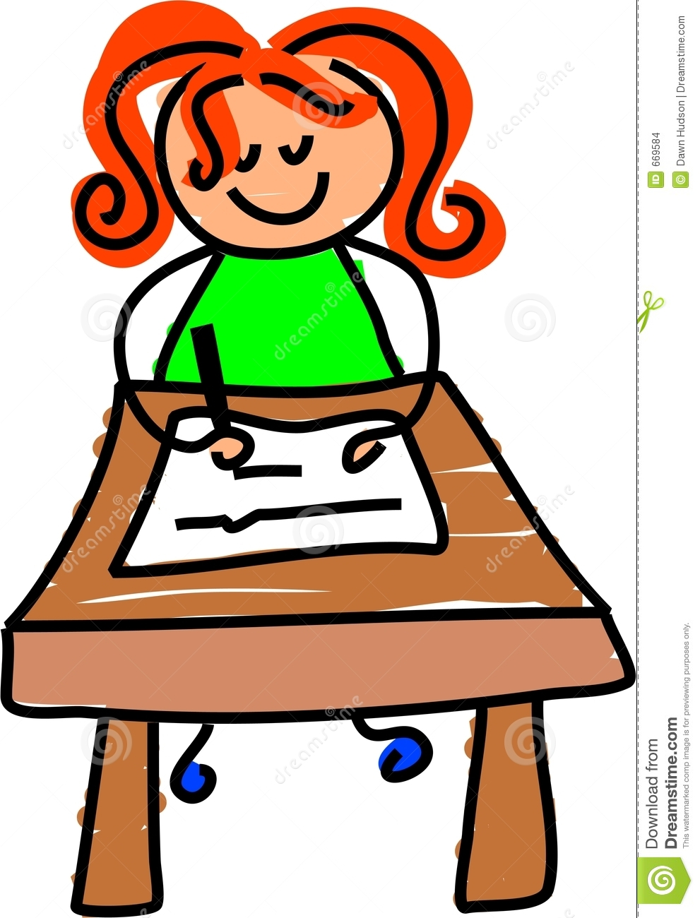 991x1300 Student Sitting Clipart