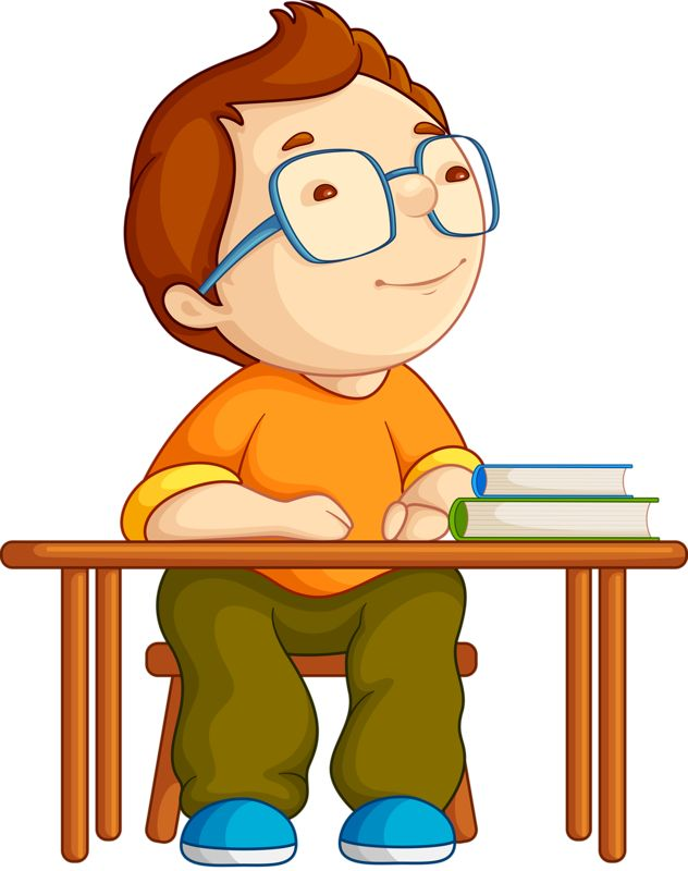 632x800 Student Thinking Clipart