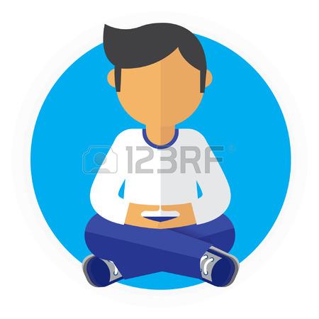 450x450 Businesswoman Thinking During Meditation. Woman Doing Yoga