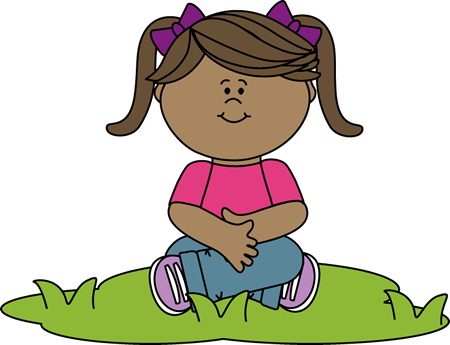 450x345 Kid Sitting In Grass Clip Art