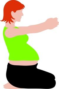 200x300 Pregnant Woman Clipart Image