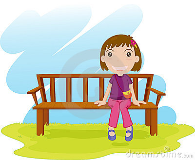 400x328 Seated Woman Clipart