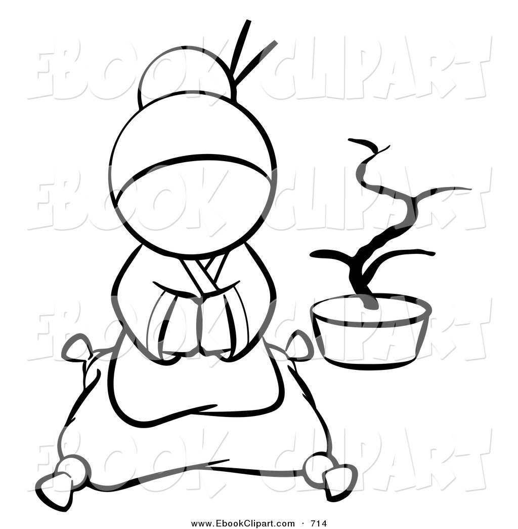 1024x1044 Vector Clip Art Of A Black And White Human Factor Japanese Geisha