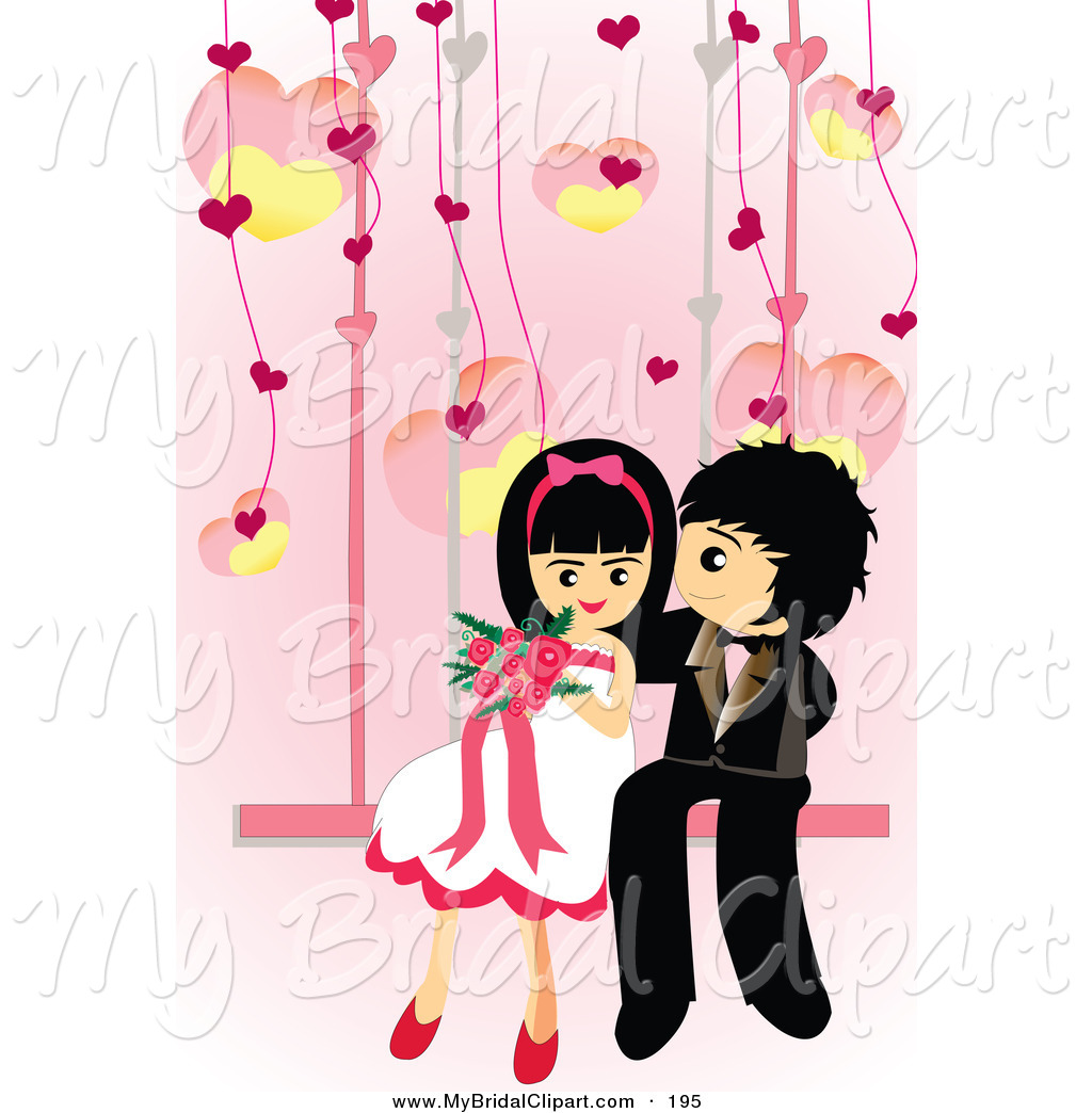 1024x1044 Bridal Clipart Of A Cute Wedding Couple Sitting Down On A Swing By