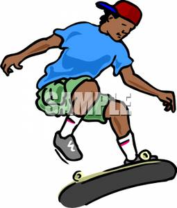 255x300 Picture A Boy With A Skateboard Doing Tricks