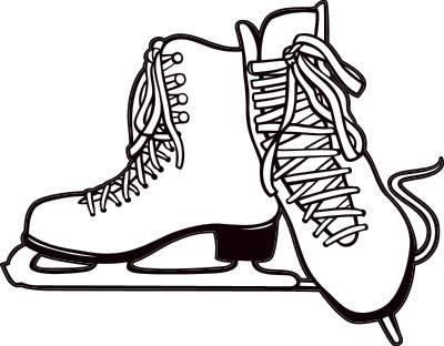 400x312 Ice Skates Clip Art