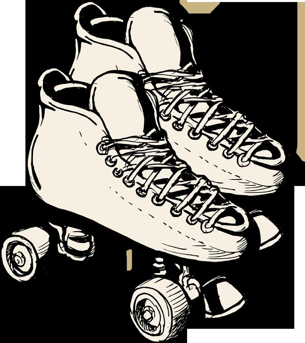 600x675 Retro Clipart Roller Skate