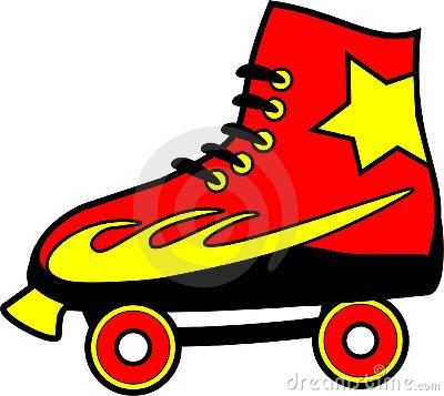 400x357 Roller Skate Clipart