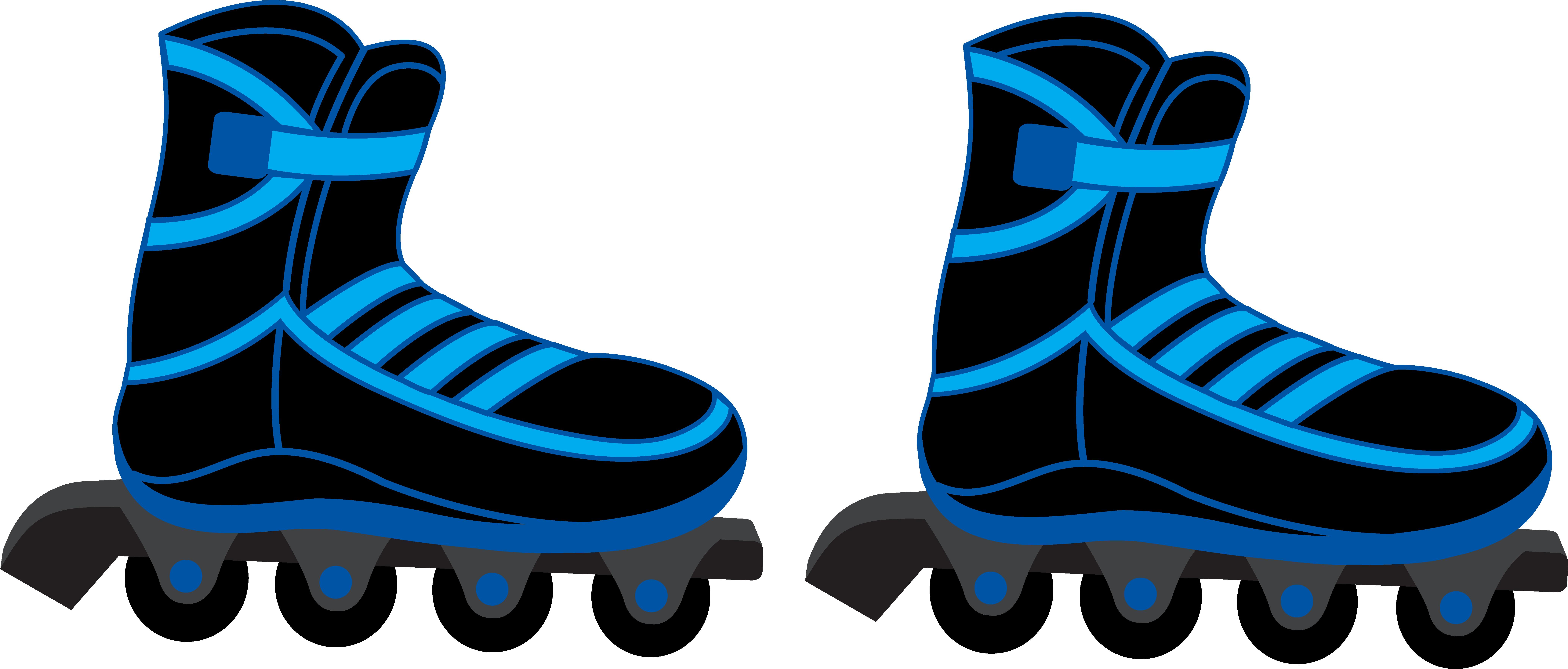 8272x3530 Blur Clipart Roller Skate