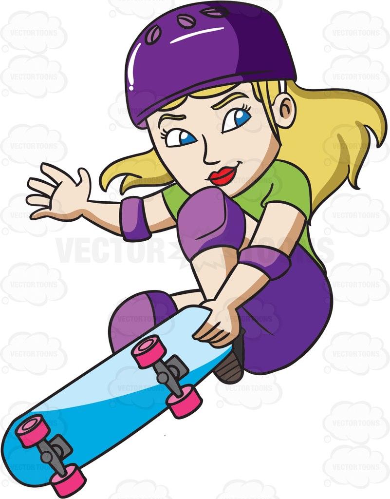 801x1024 Skateboard clipart animated
