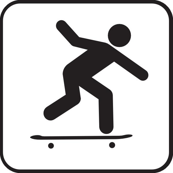 600x600 Skateboard clipart skateboarding