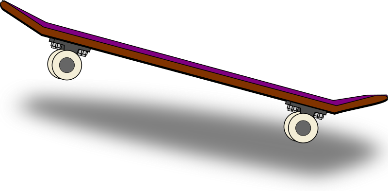 800x393 Skateboard free to use clipart