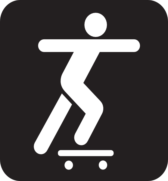 558x598 Skateboarding Stickman Clipart Clip Art