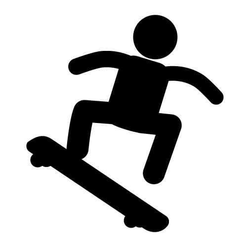 500x500 Skateboarding clip art free clipart images 2