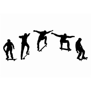 300x300 flash sequence skateboarding clip art
