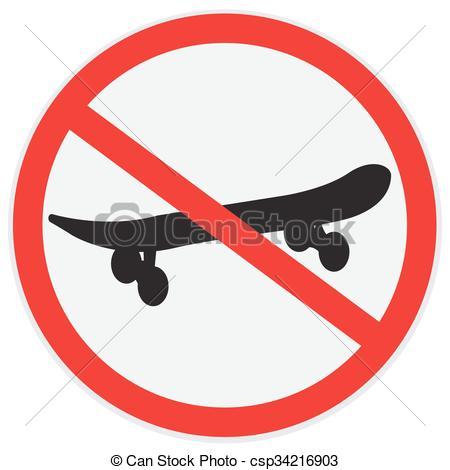 450x470 no skateboard clipart