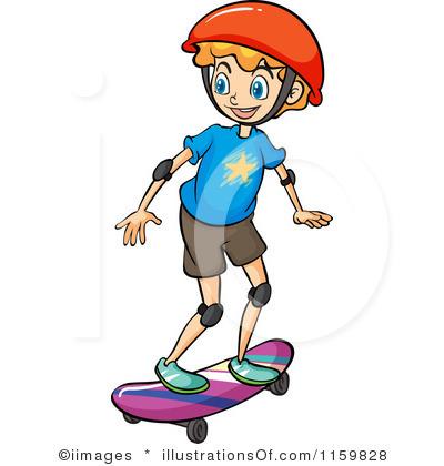 400x420 People clipart skateboarding