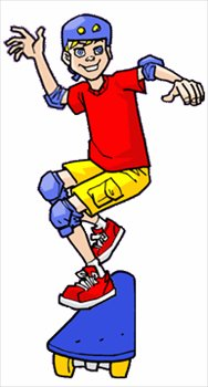 188x350 Free skateboard boy Clipart