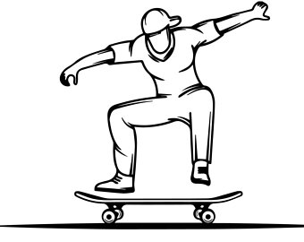340x270 Skateboard Clipart Etsy