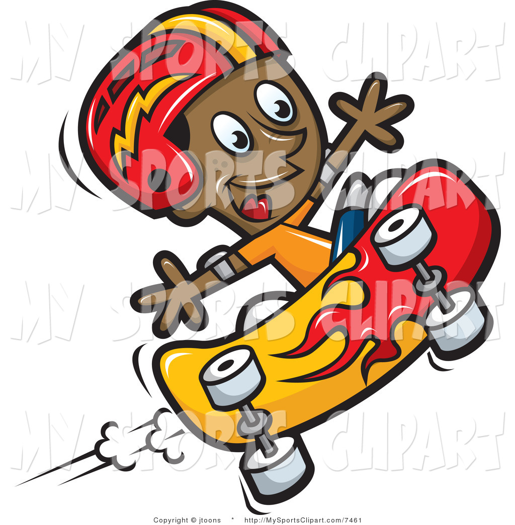 1024x1044 Sports Clip Art of a Boy Skateboarding by jtoons