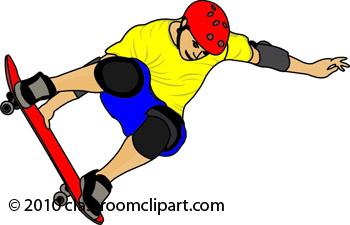 350x225 Skateboarding Clip Art