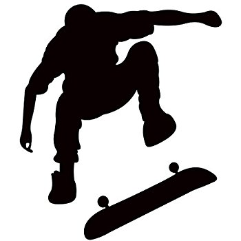 350x350 Skateboard Boy Wall Stickers Art Decals Decor(Add Custom Name