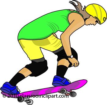 350x344 Skateboard Clipart